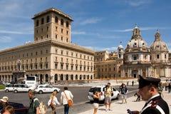 Piazza Venezia på monumentet Vittorio Emanuele II Arkivbild