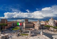 Piazza Venezia a Roma Immagine Stock Libera da Diritti
