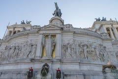 Piazza Venezia a Roma, Italia Fotografia Stock Libera da Diritti