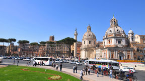 Piazza Venezia, Rome Royalty Free Stock Image
