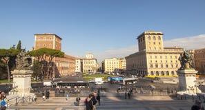 Piazza Venezia, Rome Royaltyfri Bild