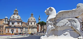 Piazza venezia. Rome Stock Photo