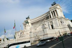 Piazza Venezia, Rome Arkivbild