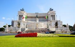 Piazza Venezia, Rome Fotografering för Bildbyråer