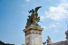 Piazza Venezia Rome Arkivfoto