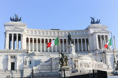 Piazza Venezia in Rome Stock Images
