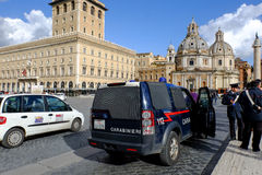 Piazza Venezia in Rome Stock Image