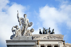 Piazza Venezia in Rome, detail. Royalty Free Stock Photo