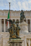 Piazza Venezia, Rome. Detail of The Victor Emmanuel Monument. Piazza Venezia, Rome, Italy Royalty Free Stock Photo