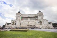 Piazza Venezia, Rome Italië Stock Foto