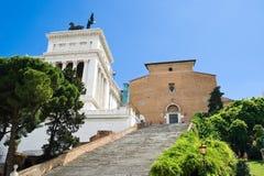 Piazza Venezia in Rome, Italië Royalty-vrije Stock Foto's