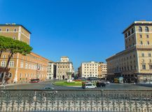 Piazza Venezia, Rome - Italien royaltyfri foto