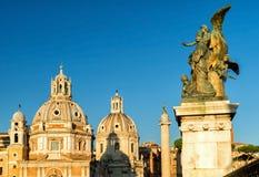 Piazza Venezia in Rome Royalty Free Stock Photography