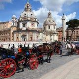 Piazza Venezia, Rome Royalty Free Stock Images
