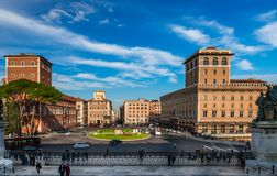 Piazza venezia in Rome. royalty free stock photos