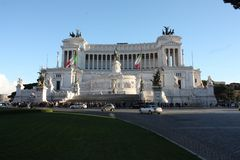 Piazza Venezia Rome, Italy royalty free stock photo