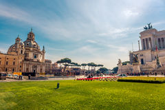 Piazza Venezia in Rome, Italy Stock Photos