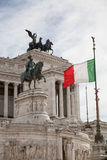 Piazza Venezia in Rome, Italy Royalty Free Stock Images