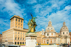 Piazza Venezia, rome, Italy. Stock Photo