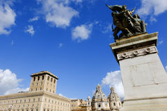 Piazza Venezia in Rome Royalty Free Stock Image