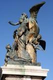 Piazza Venezia Sculpture. Piazza Venezia bronze Statues in Rome, Italy Stock Images