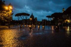 Piazza Venezia Skyline History City Rome Empire stock image