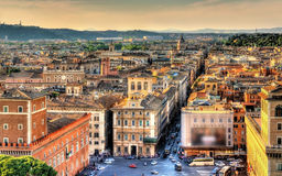 Piazza Venezia square in Rome Royalty Free Stock Photo