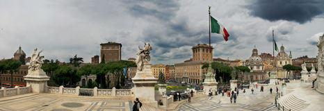 Piazza Venezia and Victor Emmanuel II Monument. Stock Images