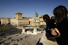 Piazza Venezia and Victorian,Rome,Italy Royalty Free Stock Photo