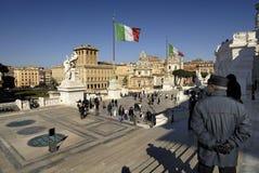 Piazza Venezia and Victorian,Rome,Italy Stock Photo