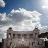 The Piazza Venezia, Vittorio Emanuele in Rome, Italy Royalty Free Stock Photo