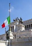 Piazza Venezia w środkowy Rzym, Włochy Zabytek dla zwycięzcy Emenuel II Zdjęcia Royalty Free