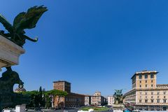 Piazza Venezia, widok od Vittoriano Altare della Patria zdjęcie royalty free
