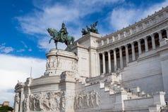 Piazza Venezia, zabytek zwycięzca Emmanuel II Zdjęcie Royalty Free