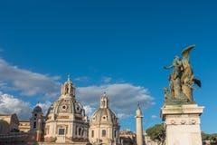 Piazza Venezia - Zadziwiać Rzym, Włochy Zdjęcie Stock