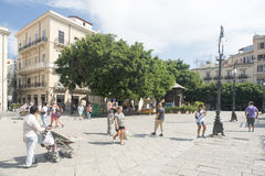 Piazza Verdi in Palermo Royalty Free Stock Photography