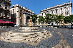 Piazza Vincenzo Bellini in Catania, Italy Royalty Free Stock Photography