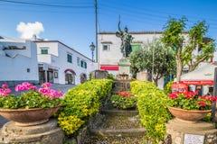 Piazza Vittoria w Anacapri na wyspie Capri, Włochy zdjęcia stock
