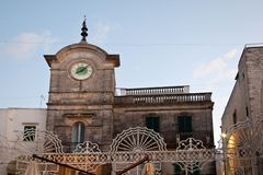 Piazza Vittorio Emanuele II cisternino. Itria valley Puglia Royalty Free Stock Photography