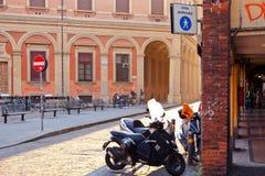 Piazza Vittorio Puntoni in Bologna Royalty Free Stock Photos