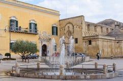 Piazza Vittorio Veneto - Matera immagini stock