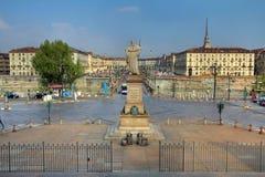 Piazza Vittorio Veneto, Torino, Italia Fotografia Stock Libera da Diritti