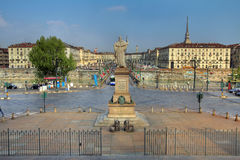 Piazza Vittorio Veneto, Turin, Italy Royalty Free Stock Photography