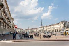 Piazza Vittorio Veneto Royalty Free Stock Photos
