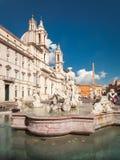 Piazza w Rzym Navona Obrazy Royalty Free