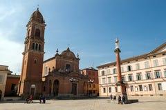 Piazza XX Settembre i Castel San Pietro Terme Royaltyfri Foto