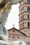 PiazzaBocca della Verità(engelska: Fyrkant av munnen av Trut Arkivbild