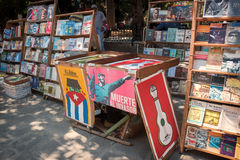 Piazzade Armas Havana Cuba Books Lizenzfreie Stockfotos