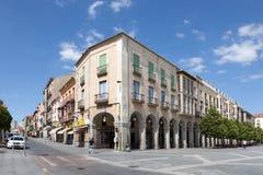 Piazzade Santa Teresa in Avila Stockfotos