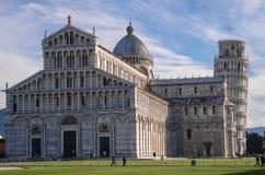 Piazzadei Miracoli på Pisa Arkivfoto